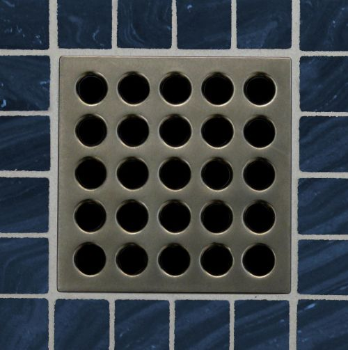 EBBE Antique Pewter Square Drain