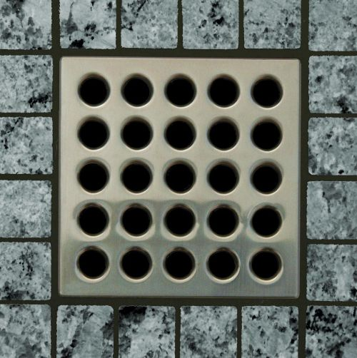 EBBE Brushed Nickel Square Drain