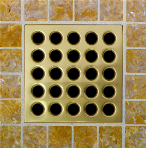 EBBE Satin Gold Square Drain