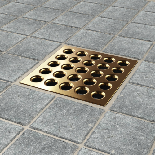 PRO Drain Cover - Brushed Bronze