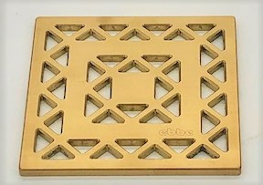 LATTICE - Brushed Gold - Unique Drain Cover