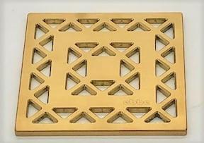 LATTICE - Brushed Gold - Unique Drain Cover