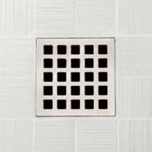 QUADRA - Brushed Nickel - Unique Drain Cover