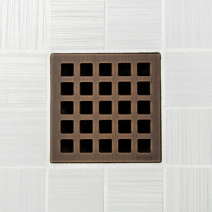 QUADRA - Oil Rubbed Bronze - Unique Drain Cover