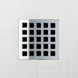 QUADRA - Polished Chrome - Unique Drain Cover
