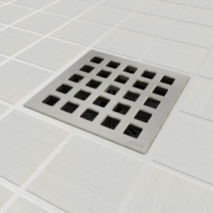 QUADRA - Brushed Stainless Steel - Unique Drain Covers