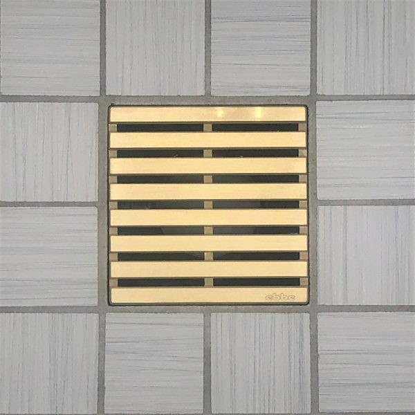 PARALLEL - Brushed Gold - Unique Drain Cover