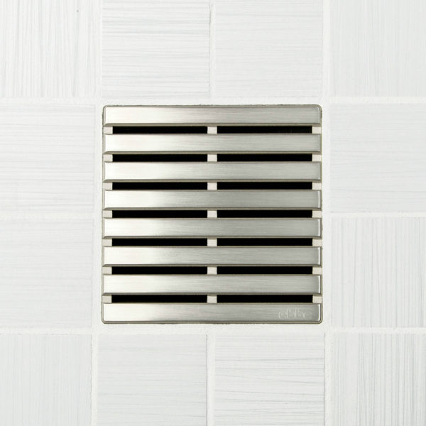 PARALLEL - Brushed Nickel - Unique Drain Cover