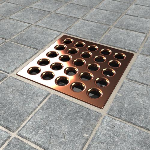PRO Drain Cover - Polished Copper