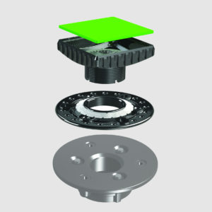 HOT MOP Adapter Kit - Hot Mop Plate and Ebbe Square Riser