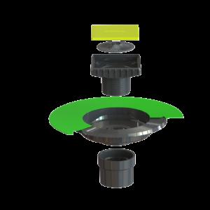 Ebbe VERSA-ABS Drain Kit - (VERSA-ABS Drain Base and Ebbe Square Riser)