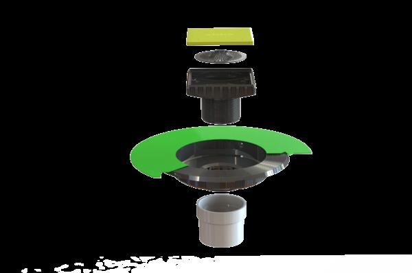 Ebbe VERSA-PVC Drain Kit - (VERSA-PVC Drain Base and Ebbe Square Riser)