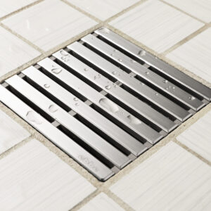 E4811-BS - Ebbe UNIQUE Drain Cover - PARALLEL - Brushed Stainless Steel - Shower Drain - aw