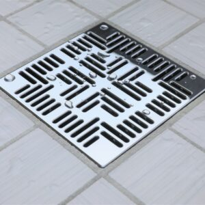 E4804-PC - Ebbe UNIQUE Drain Cover - NAVAJO - Polished Chrome - Shower Drain - e