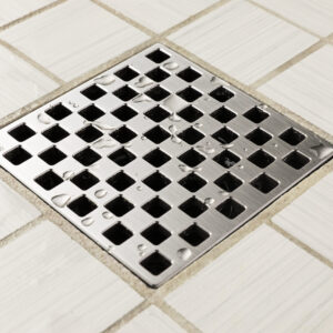 E4807-SS - Ebbe UNIQUE Drain Cover - WEAVE - Satin Stainless Steel - Shower Drain - aw