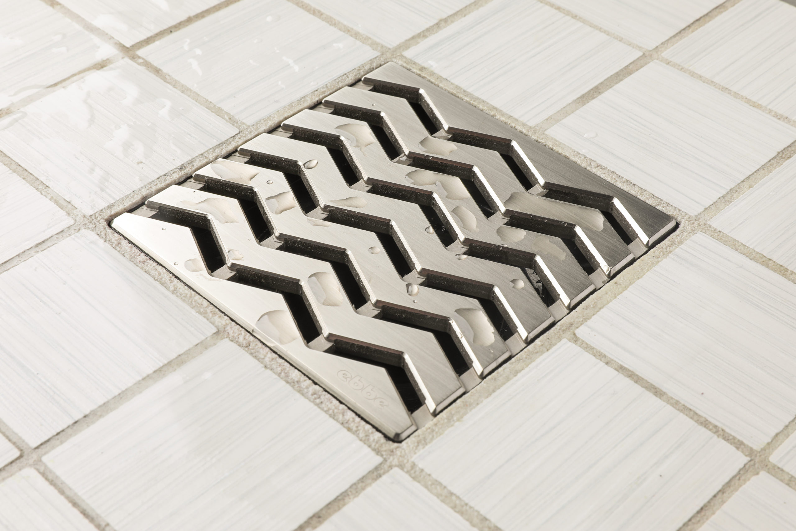 E4816-BN - Ebbe UNIQUE Drain Cover - TREND - Brushed Nickel - Shower Drain - aw