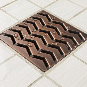 E4816-ORB - Ebbe UNIQUE Drain Cover - TREND - Oil Rubbed Bronze (PVD) - Shower Drain - aw