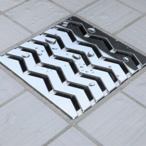 E4816-PC - Ebbe UNIQUE Drain Cover - TREND - Polished Chrome - Shower Drain - e