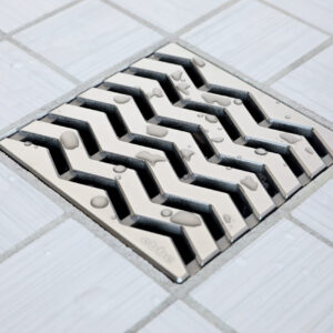 E4816-SN - Ebbe UNIQUE Drain Cover - TREND - Satin Nickel - Shower Drain - aw