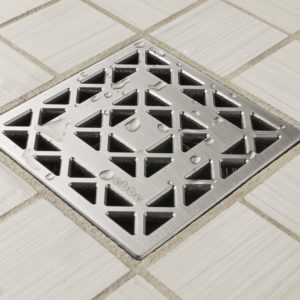 E4802-SS - Ebbe UNIQUE Drain Cover - LATTICE - Satin Stainless Steel - Shower Drain - aw