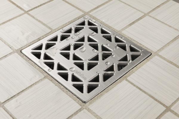 E4802-SS - Ebbe UNIQUE Drain Cover - LATTICE - Satin Stainless Steel - Shower Drain - aw