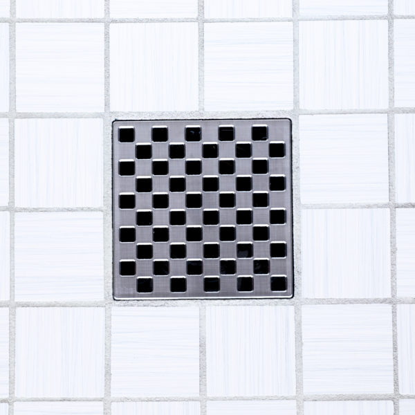 E4807-BS - Ebbe UNIQUE Drain Cover - WEAVE - Brushed Stainless Steel - Shower Drain - tdd