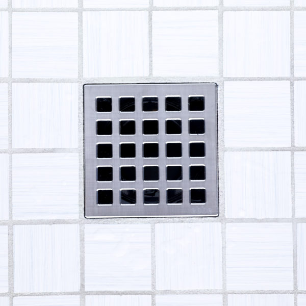 E4803-BS - Ebbe UNIQUE Drain Cover - QUADRA - Brushed Stainless Steel - Shower Drain - tdd