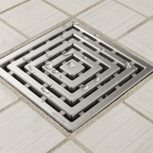 E4815-SS - Ebbe UNIQUE Drain Cover - FRAMES - Satin Stainless Steel - Shower Drain - aw