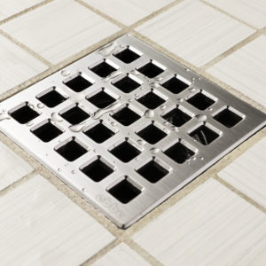 E4803-SS - Ebbe UNIQUE Drain Cover - QUADRA - Satin Stainless Steel - Shower Drain - aw