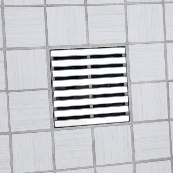 E4801-SS - Ebbe UNIQUE Drain Cover - PRAIRIE - Satin Stainless Steel - Shower Drain - tdd