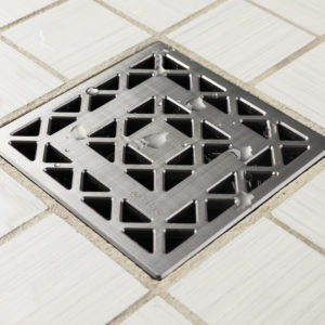 E4802-BS - Ebbe UNIQUE Drain Cover - LATTICE - Brushed Stainless Steel - Shower Drain - aw