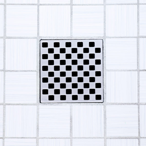 E4807-SS - Ebbe UNIQUE Drain Cover - WEAVE - Satin Stainless Steel - Shower Drain - tdd