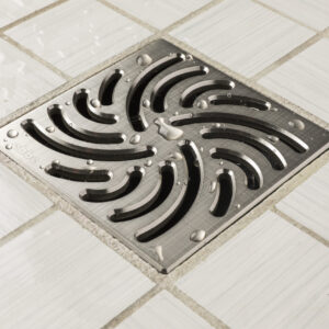 E4806-BN - Ebbe UNIQUE Drain Cover - TWISTER - Brushed Nickel - Shower Drain - aw