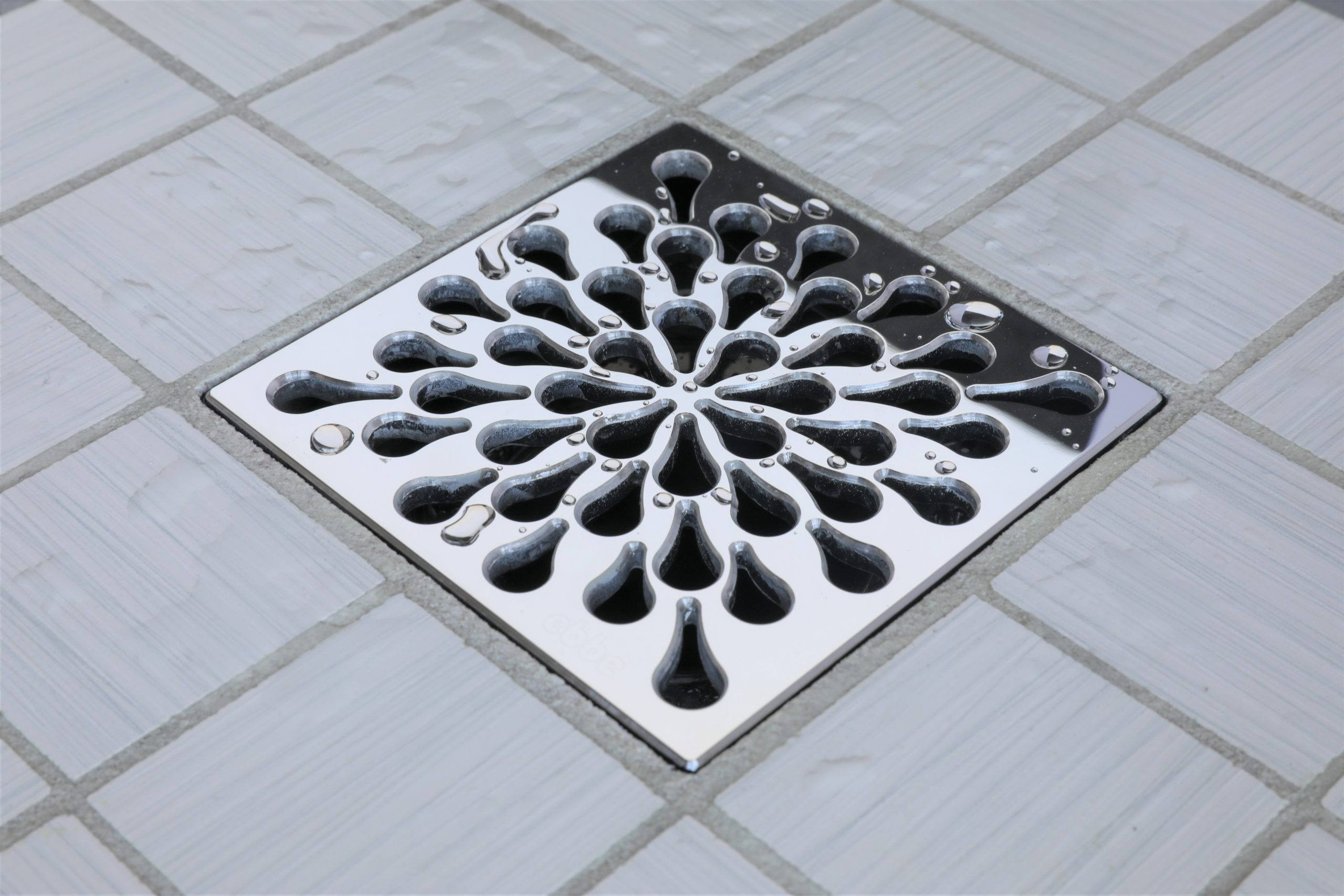 E4805-PS - Ebbe UNIQUE Drain Cover - SPLASH - Polished Stainless Steel - Shower Drain - e