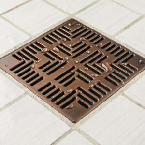 E4804-ORB - Ebbe UNIQUE Drain Cover - NAVAJO - Oil Rubbed Bronze (PVD) - Shower Drain - aw