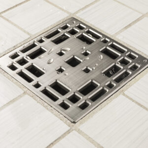 E4801-BN - Ebbe UNIQUE Drain Cover - Prairie - Brushed Nickel - Shower Drain - aw
