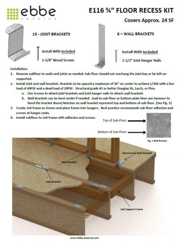 Ebbe Subfloor Lowering Kit
