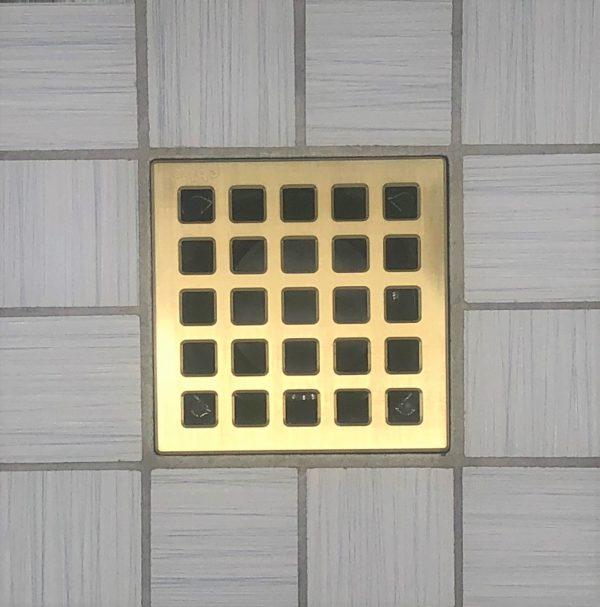QUADRA - Brushed Gold - Unique Drain Cover