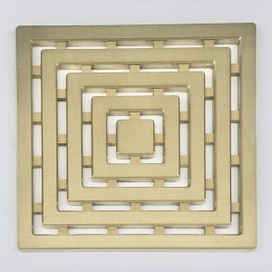 FRAMES - Brushed Gold - Unique Drain Cover