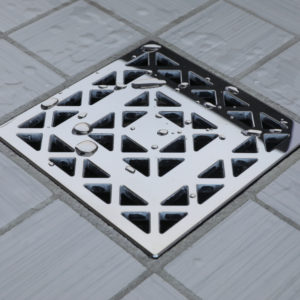 E4802-PS - Ebbe UNIQUE Drain Cover - LATTICE - Polished Stainless Steel - Shower Drain - aw