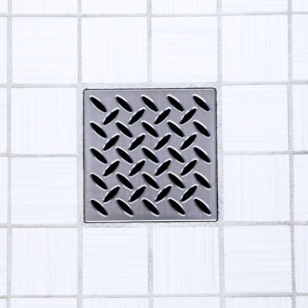 E4811-PC - Ebbe UNIQUE Drain Cover - PARALLEL - Polished Chrome - Shower Drain - ad