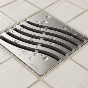 E4814-SS - Ebbe UNIQUE Drain Cover - TSUNAMI - Satin Stainless Steel - Shower Drain - aw