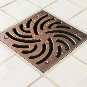 E4806-ORB - Ebbe UNIQUE Drain Cover - TWISTER - Oil Rubbed Bronze (PVD) - Shower Drain - aw