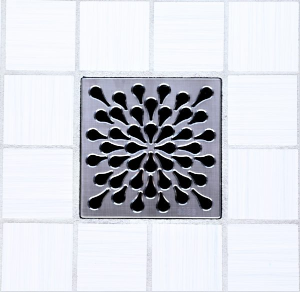 SPLASH - Brushed Stainless Steel - Unique Drain Cover