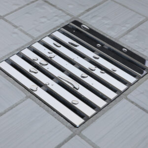 E4811-PS - Ebbe UNIQUE Drain Cover - PARALLEL - Polished Stainless Steel - Shower Drain - aw