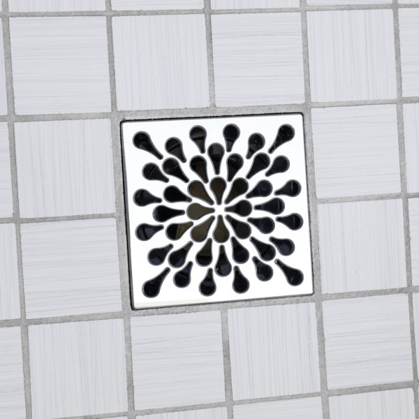 SPLASH - Polished Stainless Steel - Unique Drain Cover