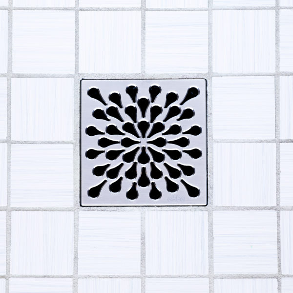 SPLASH - Satin Stainless Steel - Unique Drain Cover