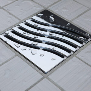 E4814-PC - Ebbe UNIQUE Drain Cover - TSUNAMI - Polished Chrome - Shower Drain - aw