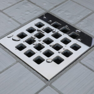 E4810-PS - Ebbe UNIQUE Drain Cover - CLASSIC - Polished Stainless Steel -Shower Drain - aw