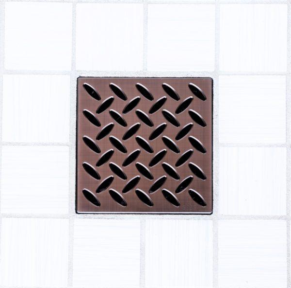 E4813-ORB - Ebbe UNIQUE Drain Cover - DIAMOND - Oil Rubbed Bronze (PVD) - Shower Drain - e